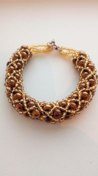 Netted rope armband - Netted rope bracelet by IngaleCreations