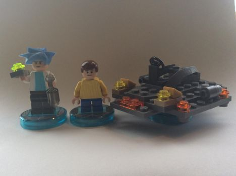 Lego Dimensions Rick and Morty Customs by TheAngryBirdKing