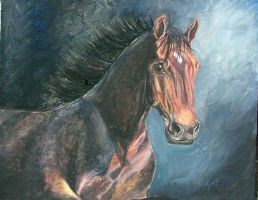 2nd horse painting by smerfette