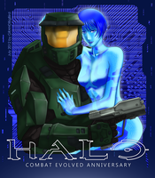 Halo: CEA - Chief and Cortana by GRANDBigBird