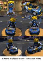 Sparkster The Rocket Knight- Modnation Racers by Artooinst
