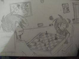 Prize - Maxy and Darry - doing something... chess- by Torosiken-II