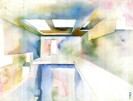 Abstract interior detail by Zawij