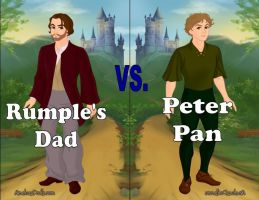 Rumple's Dad vs. Peter Pan by Sunshine-Girl524