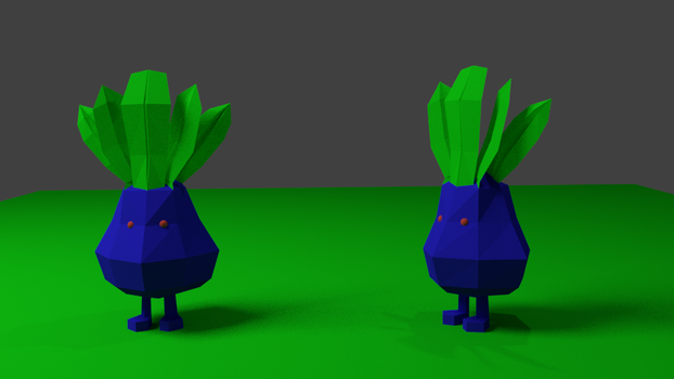 Low Poly Oddish by shaggy6963