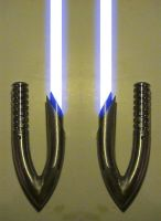 Curved Hook Lightsaber Hilts by hapajedi