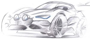 Audi sketch by dyrborgdesign