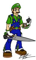 Final Fantasy Luigi by Pancho-the-lizard