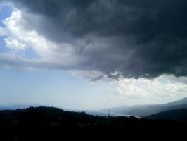 Storm was coming on Kvarner by HelaLe