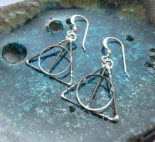 Deathly Hallows Gearrings by AMechanicalMind