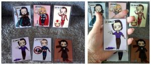 The Avengers BADGES plus Abe by kuroitenshi13