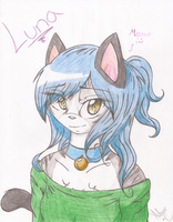 Luna as human cat thingy by AmyroseXDSonic