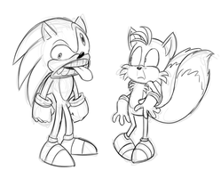 Err...you ok there Sonic? by Mickeymonster