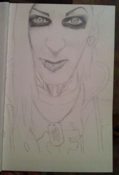 Chris Motionless WIP by FalloutLuver13