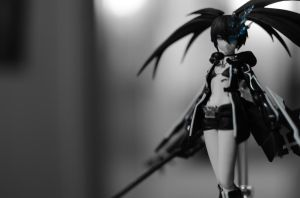 black rock shooter by millionknives3