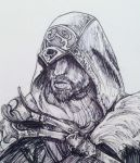 Ezio Assassins Creed sketch by samleyf1