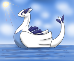 lugia duck by Salphethefirst