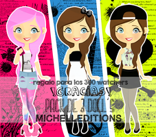 Pack de dolls 3 michellEditions by MichellEditions