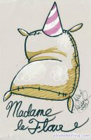 Madame Le Flour Sketch Card by alex-heberling