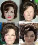 Jacqueline Kennedy doll repaint - Work in Progress by noeling