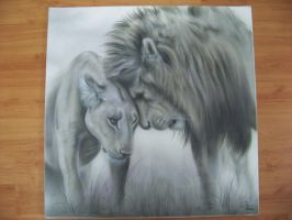 Lions Airbrushed artwork by Mathius88