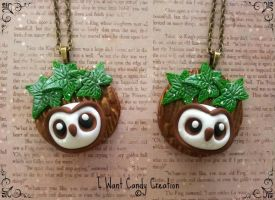 HANDMADE - Necklace Barbagianni Barn Owl by IWantCandyCreation