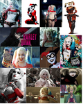 Harley Quinn Cosplay Collage by IronCobraAM