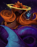 Space Mermaid by WillowEscapee