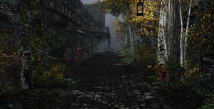 TESV - The Streets of Riften by theWitchofGrich
