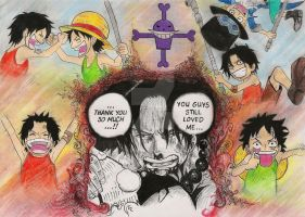 Blood Brothers - Ace. Luffy. Sabo (One Piece) by Irmelin89