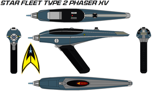 Star fleet Type 2 phaser XV by bagera3005
