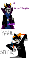 Eridan and Karkat discover Battle Ready Amour by ShoOff