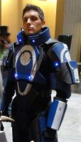 Blue Suns Mercenary Armor - Mass Effect by Frijoleluna