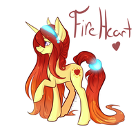 ArcadianPheonixs Fireheart Hair redesign by BlueKazenate