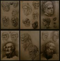 Some of my traditional drawings by NaionMikato