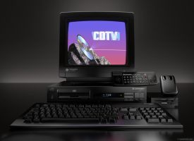 The complete Commodore CDTV set, front view by zgodzinski