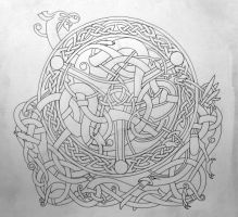 Celtic blend outline by Tattoo-Design