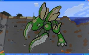 Scyther On Minecraft by Miccopicco