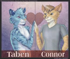 Taben and Connor - Badges by Ulario