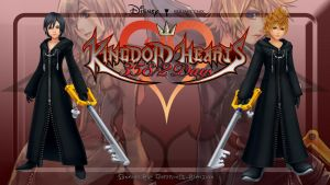 Kindom Hearts 358/2 Days Custom Wallpaper by vampireknightgal
