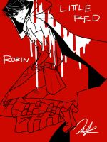 little red robin by laziemishee