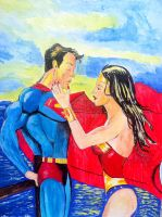 wonder woman and superman by dezz1977