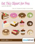 FREE Sweet Cakes Clipart Pack by cloudstreetlab