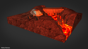 Volcanic Scene Model by Neighthirst