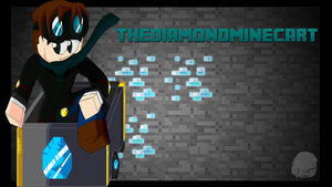 Minecraft Art - TheDiamondMinecart by BillCosbyPlays