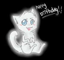 Happy Birthday kitty-ghost by FoxLover12