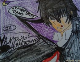 KHR vampire Hibari Kyoya by Bluedragoncartoon