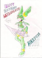 h4ppy b-day gift 2 Midnight by Sting-Chameleon