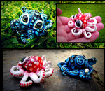 --SOLD--Baby Octopus Mushroom and Blue Fire! by Wood-Splitter-Lee