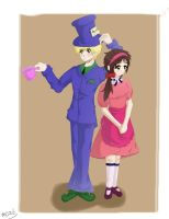 Hetalia: Mad Hatter and Alice by moonrisecat